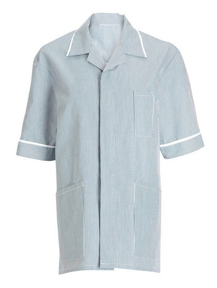 Men striped Healthcare tunic trim